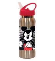 tuitbeker Mickey Mouse staal 580 ml zilver/rood