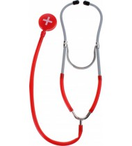 dokters stethoscoop 29 cm rood