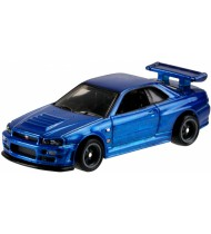 auto Fast and the Furious jongens staal 9 cm blauw