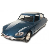 auto Citroën DS 1973 pull-back 1:34-39 staal blauw