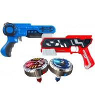 battle set Spinner Mad Duo blauw/rood 4-delig